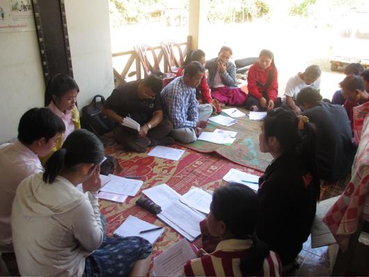 村の村落ボランティアとのミーティング.jpg